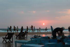 Hikkaduwa sunset Sri Lanka