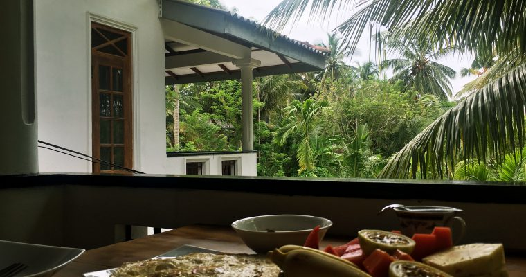 Sri Lanka Guesthouse breakfast